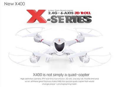 MJX X 400 FPV 2.4G 6-assige 3D Roll RC Quadcopter met HD Camera