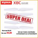 Syma X8C-05-Blades-white  Rotorbladen