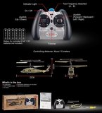 SYMA S102G mini Apache 3 Channel Military met Gyro_