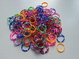 200 ELASTIEKJES RAINBOW Mix kleuren STIPPEL loom bands