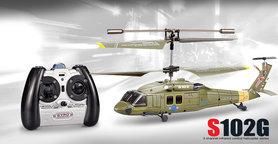 SYMA S102G mini Apache 3 Channel Military met Gyro