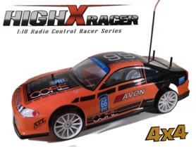 Rc Drift auto 1:10 HighXRacer 4WD High Speed Kleur oranje