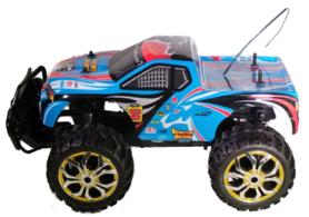 Rc Monstertruck cross truck man kleur blauw