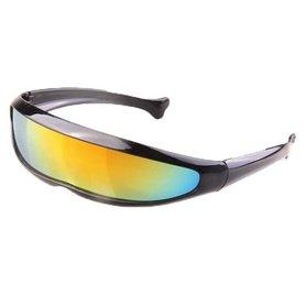 Snelle Planga Zonnebril zwart met regenboog glazen