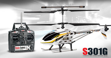 SYMA S301G 3CH R/C helicopter with GYRO