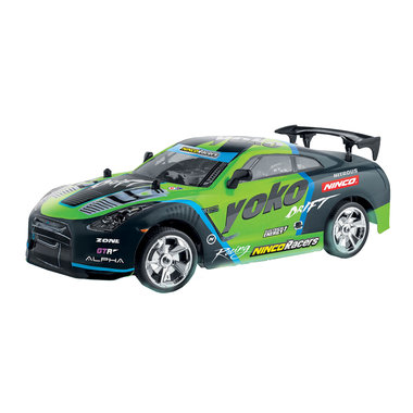 Ninco RC Yoko Driftauto + Licht 1:18 Groen/Zwart