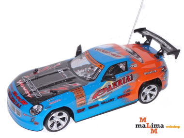 Rc Drift auto 1/14 Blauw Champion Car
