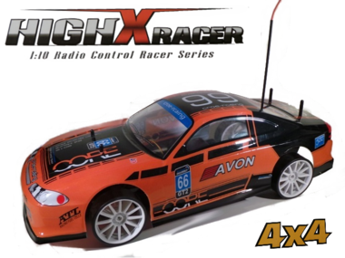 Rc Drift auto 1:10 HighXRacer 4WD High Speed Kleur oranje