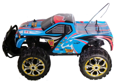 Rc Monstertruck cross truck man kleur blauw