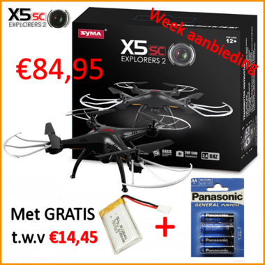 Syma X5SC headless 2MP HD camera Drone 2.4gHz 4CH.