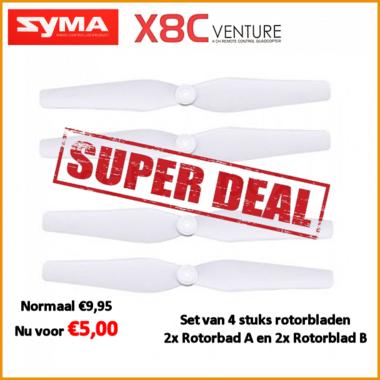 Syma X8C-05-Blades-white / Rotorbladen