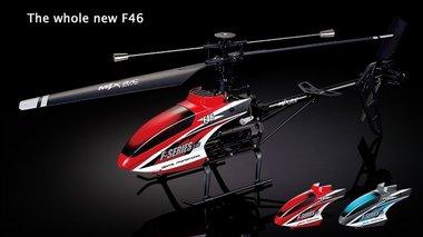 MJX F-Series F646 F46 4 kanaals,singel blade 2.4GHZ helicopter