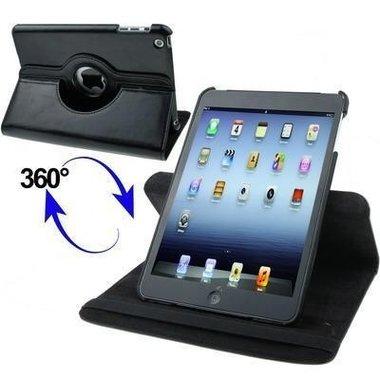 Rotary Leren Tas voor iPad Mini - Zwart