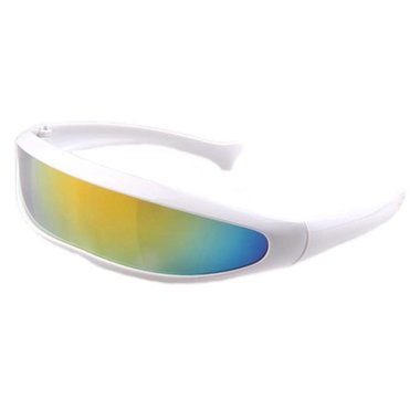 Snelle Planga Zonnebril wit met regenboog glazen