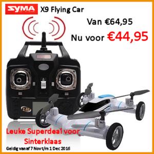 Syma X9 flying car sinterklaas aanbieding
