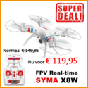 Syma X8W 2.4G RC Quadcopter met FPV HD Camera